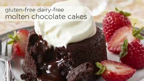 How to make gluten-free dairy-free molten chocolate cakes