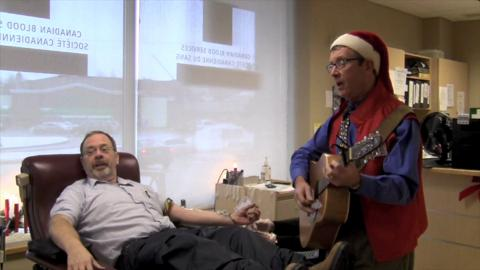 Christmas carols at the Blood clinic