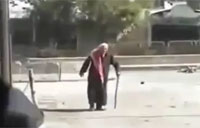 Old Man Saved by SAA Soldier