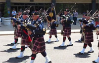 Coast Guard Pipe Band Blows!