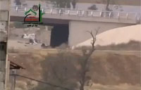 FSA Sniper Drops Running Soldier