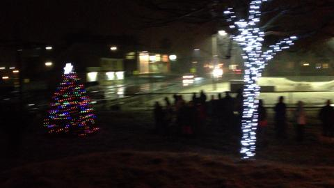 Tree lighting ceremony brightens south end Yarmouth