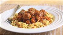 Lamb Meatballs in Spicy Eggplant Tomato Sauce