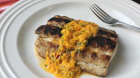 avocado salad pan seared halloumi with spicy mango dressing mahi mahi ...