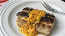 Grilled Mahi Mahi with Spicy Mango Sauce