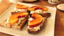 Peach Brulee & Burrata Bruschetta