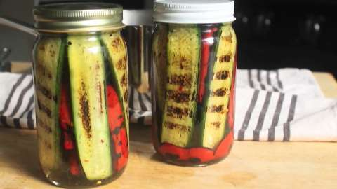 Pickled Grilled Vegetables