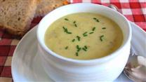 Cream of Green Garlic Potato Soup