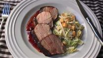 Cocoa-Rubbed Pork Tenderloin with Cherry Sauce