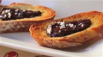 Chocolate and Sea Salt Crostini