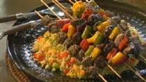 Bison and Veggie Kabobs