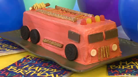 How to Make a Fire Engine Cake
