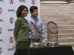 Red Sox Trophies at City Hall