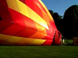 Blowing Up a Hot Air Balloon