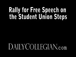Rally for free speech on Student Union steps