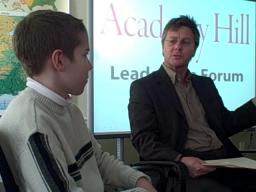 Picknelly discusses leadership at Academy Hill School