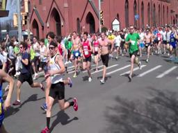 Start of Holyoke St. Pat's Road Race