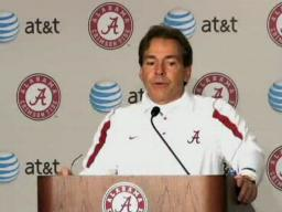 Nick Saban Iron Bowl postgame