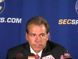 Nick Saban, Alabama Crimson Tide Head Coach, at 2009 SEC Media