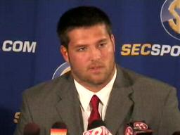 OL Mike Johnson, Alabama Crimson Tide, at 2009 SEC Media Days