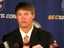 QB Jevan Snead, Ole Miss Rebels, at 2009 SEC Media Days