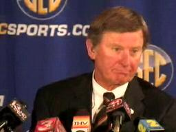 Steve Spurrier, South Carolina Gamecocks Head Coach , at 2009 S