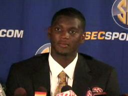 LB Rolando McClain, Alabama Crimson Tide, at 2009 SEC Media Day