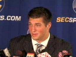 QB Tim Tebow, Florida Gators, at 2009 SEC Media Days