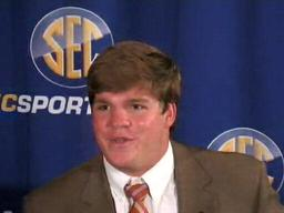 TE Tommy Trott, Auburn Tigers, at 2009 SEC Media Days