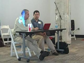 Dell's Richard Binhammer and Lionel Menchaca at Social South