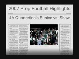 Eunice vs. Shaw November 23, 2007