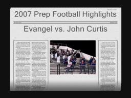 Evangel vs. John Curtis November 30, 2007