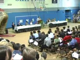 Hundreds warned of storm at Mandeville High School ring ceremony