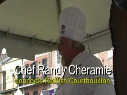 Chef Randy Cheramie fixes Redfish Courtbouillon
