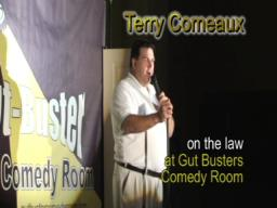 Terry Comeaux and law run-in at Gut Buster Comedy Room