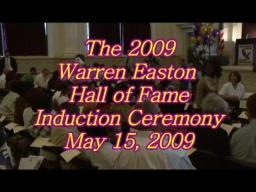 Warren Easton 2009 Hall of Fame Induction Ceremony