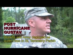 Hurricane Gustav: Post storm search and rescue with Army and sheriffs