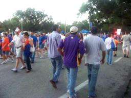 Florida vs. LSU  - The crowds outside the stadium