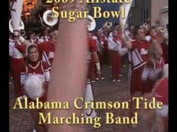 Alabama Crimson Tide band at the 2009 Sugar Bowl Fan Jam