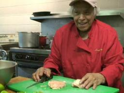 Cooking creole gumbo with Leah Chase