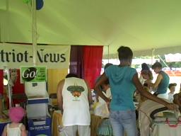 The Patriot-News booth at Super Saturday.