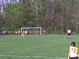 Bishop McDevitt corner kick
