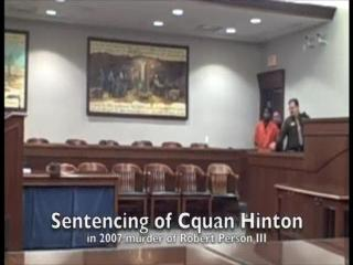 Sentencing of Cquan Hinton