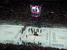Fort Wayne Komets celebrate Turner Cup three-peat