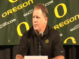Ducks coach Chip Kelly talks about the opening of fall camp