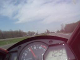 Speeding motorcycle