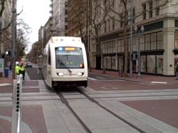 TriMet takes new MAX train for a spin