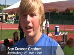 Sam Crouser has record-setting throw