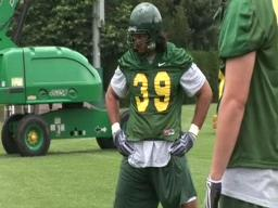 Ducks defensive end Will Tukaufu talks goals