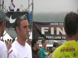 The end of the Hood to Coast race
